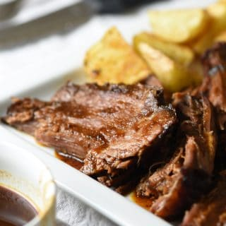 Lazy Day Slow Cooker Barbecue Beef Brisket