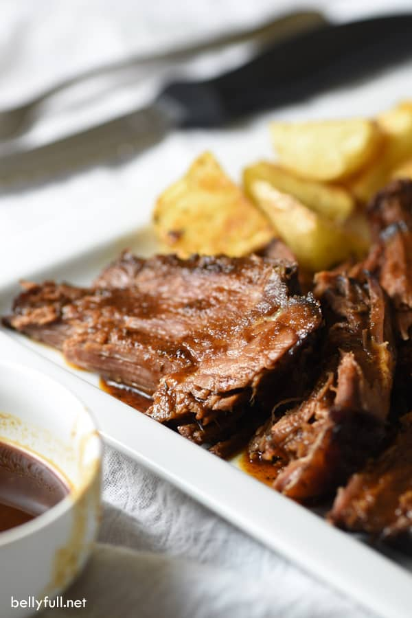Super tender, flavorful, and as the name suggests, easy! This Lazy Day Slow Cooker Barbecue Beef Brisket is quick, convenient, and comforting!