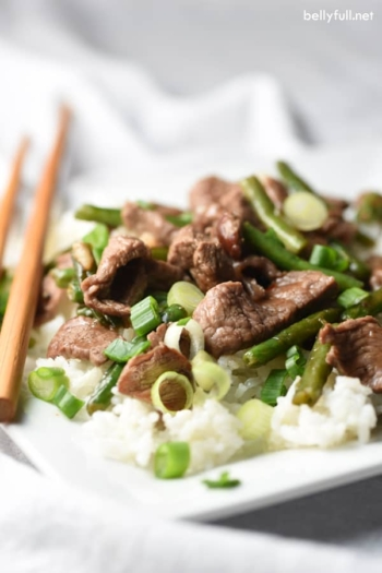 Quick and Easy Chinese Orange Beef Stir Fry is on the table in 25 minutes!