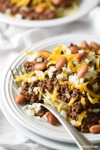 Cincinnati Chili is a unique comfort food classic. It's slow simmered and then served 1 of 5 ways. A midwestern favorite!