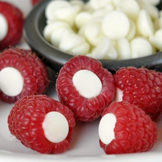 Fresh ripe raspberries are stuffed with white chocolate for a simple and sweet treat! Plus, Raspberry Rockets is fun to say! Perfect for Valentine's Day or anytime.
