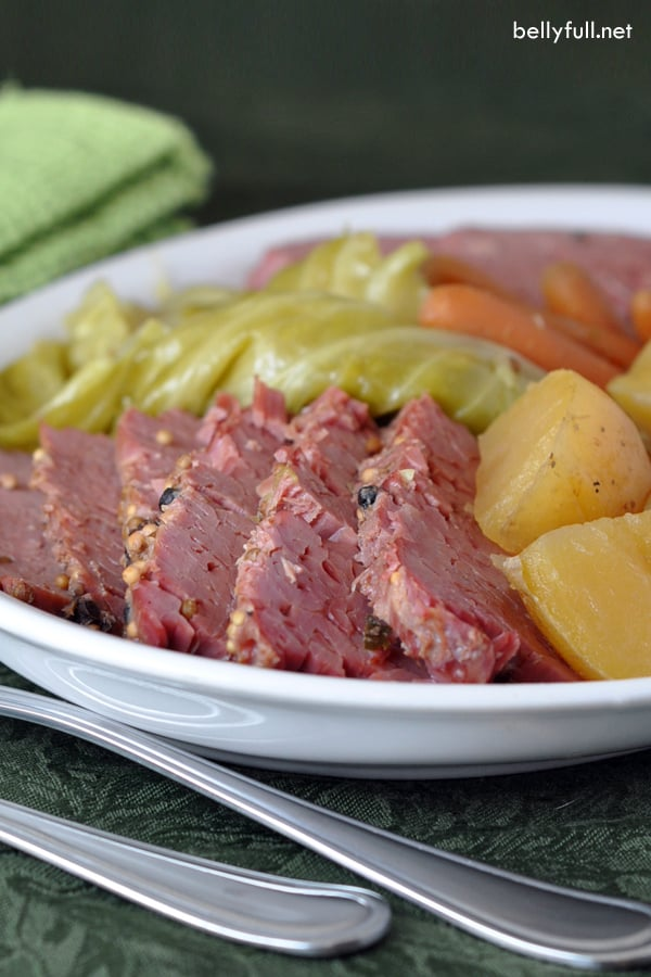 Classic corned beef and cabbage made in the crock pot. Enjoy thid recipe for St. Patrick's Day or all year long!
