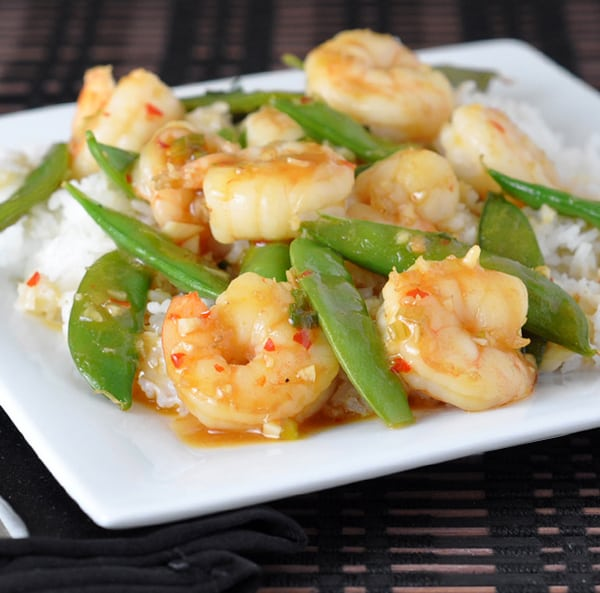 Shrimp Stir-Fry with Sugar Snap Peas has your busy weeknight covered - on the table in 20 minutes!