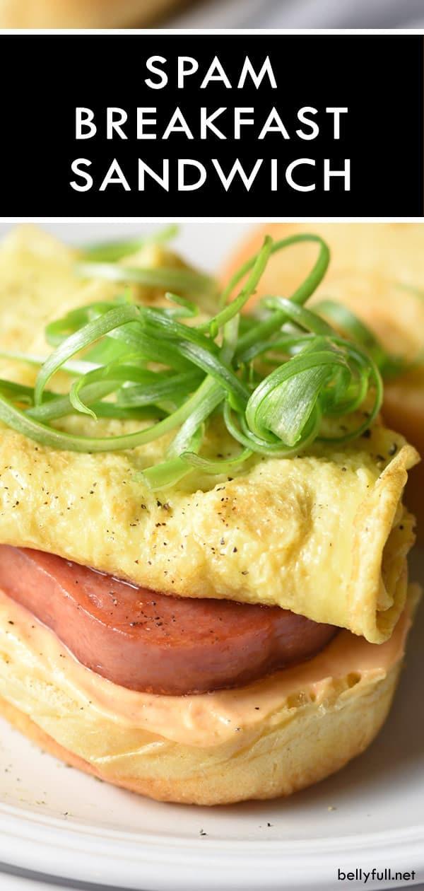pin for SPAM Breakfast Sandwich