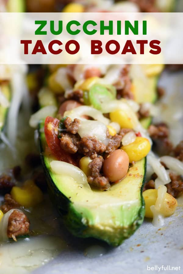 pin for Zucchini Taco Boats