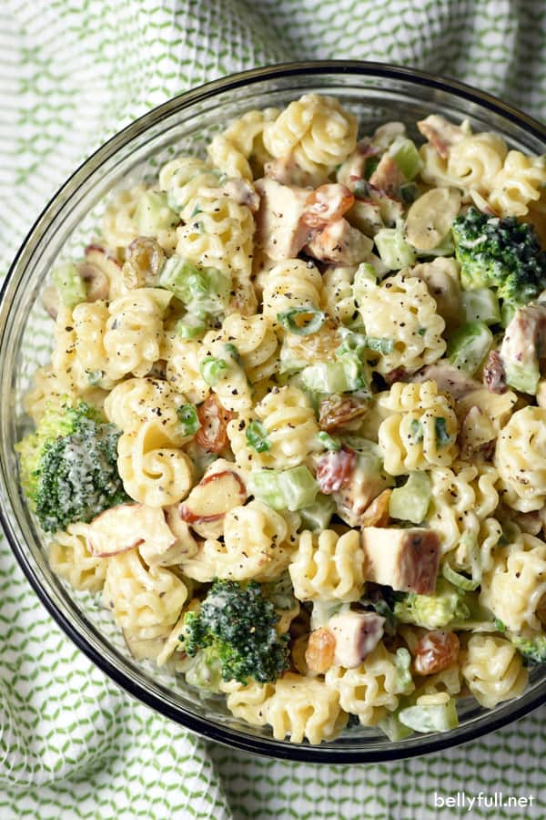 mixed Chicken Broccoli Pasta Salad