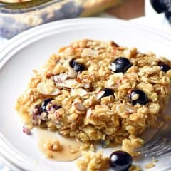 Baked Oatmeal is crazy easy, versatile, and delicious! This make-ahead version allows you to portion it out for the busiest of mornings.