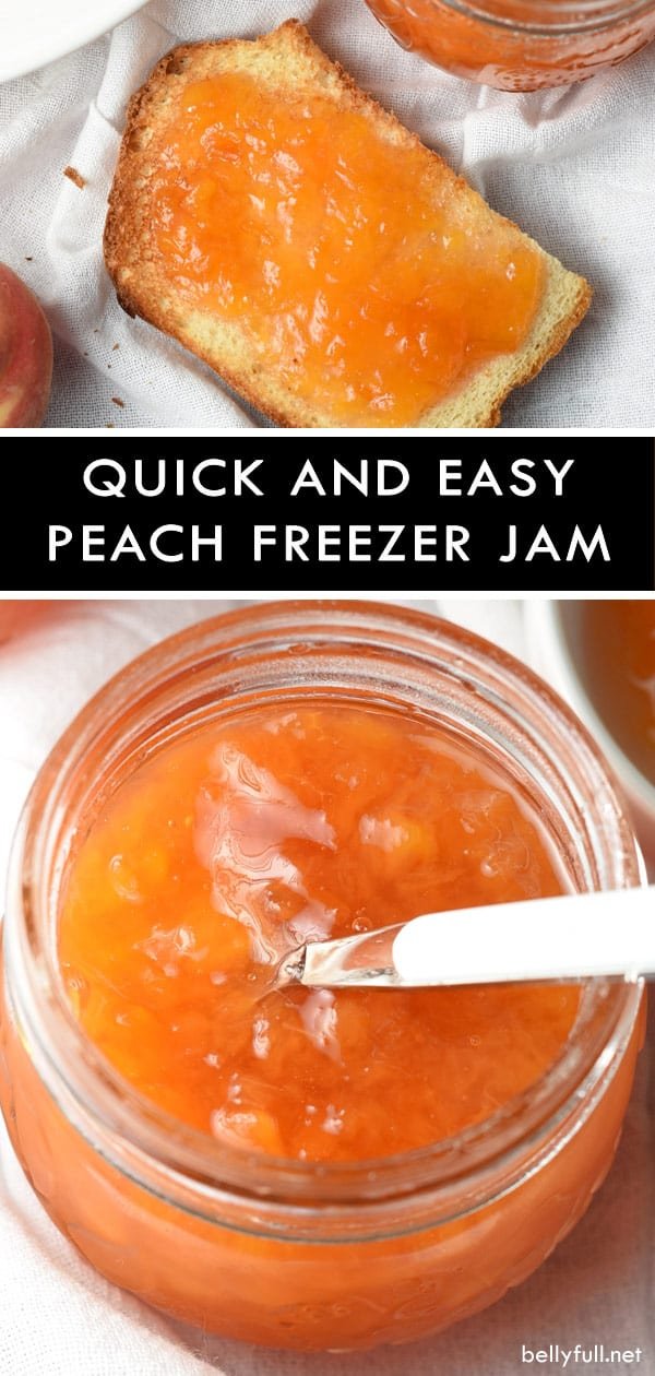 Quick and Easy Peach Freezer Jam