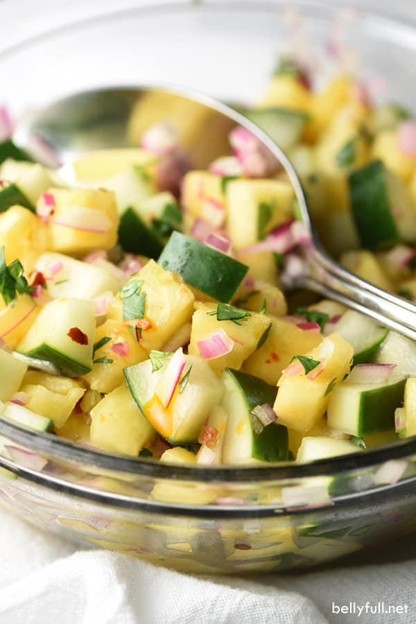 Make summer grilling season complete with these Grilled Thai Shrimp and Pineapple Cucumber Salad. Sweet, spicy, easy, healthy, and wonderful!