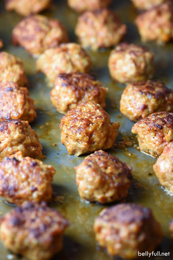 These Chicken Chorizo Meatballs only have a handful of ingredients, but are packed with a ton of delicious flavor and Mexican flair!