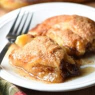 These Easy Country Apple Dumplings are soft and gooey on the bottom, but crispy on top, and the taste like apple pie. So easy and ridiculously good. Plus the house smells amazing while they bake!