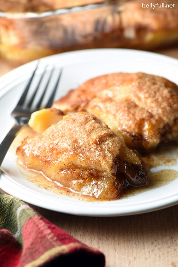 Country Apple Dumplings on a white plate