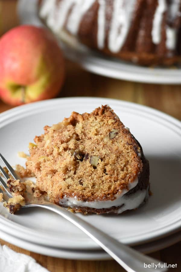 This Easy Apple Cake is mildly sweet with a dreamy cream cheese glaze. It's perfect for any holiday or Sunday brunch when you have a crowd.