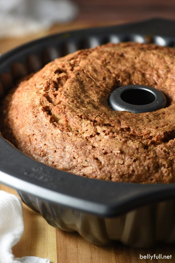 Apple Cake in bundt pan