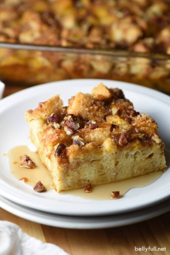 This Overnight Pumpkin French Toast Casserole is a wonderful dish for the Fall, with great pumpkin and cinnamon flavor. Preparing it the night before makes breakfast or brunch the next morning easy-peasy!