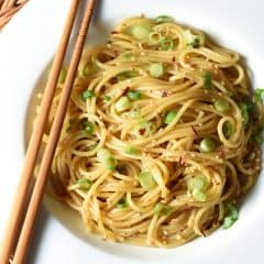 These Simple Sesame Noodles are light, but filling. Awesome sesame flavor and zing from chili oil. Ready in only 20 minutes and can be served warm or cold.