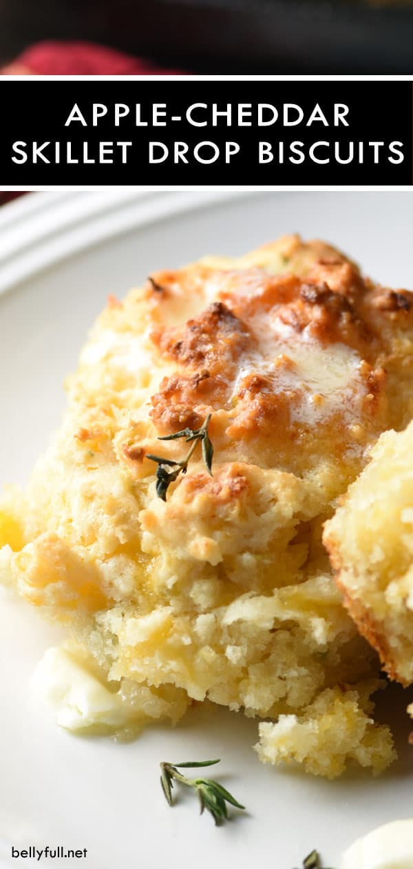 Cheddar-Apple Skillet Drop Biscuits