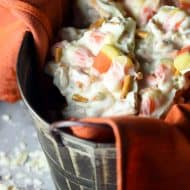 Halloween Candy Corn Pretzel Bark is the ultimate treat with white chocolate, candy corn, and pretzels!
