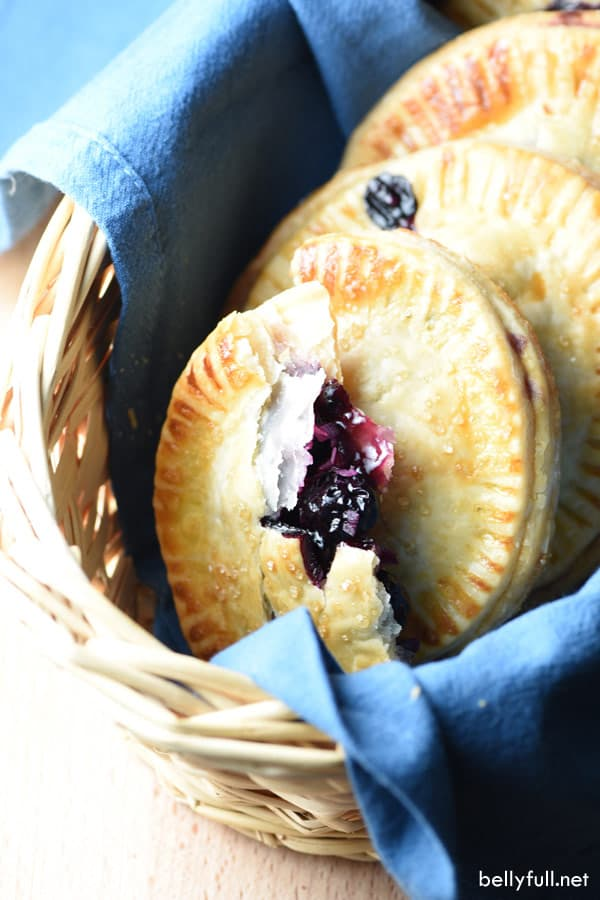 Blueberry-Coconut Mini Hand Pies are easy, full of flavor, and the perfect individual serving size!