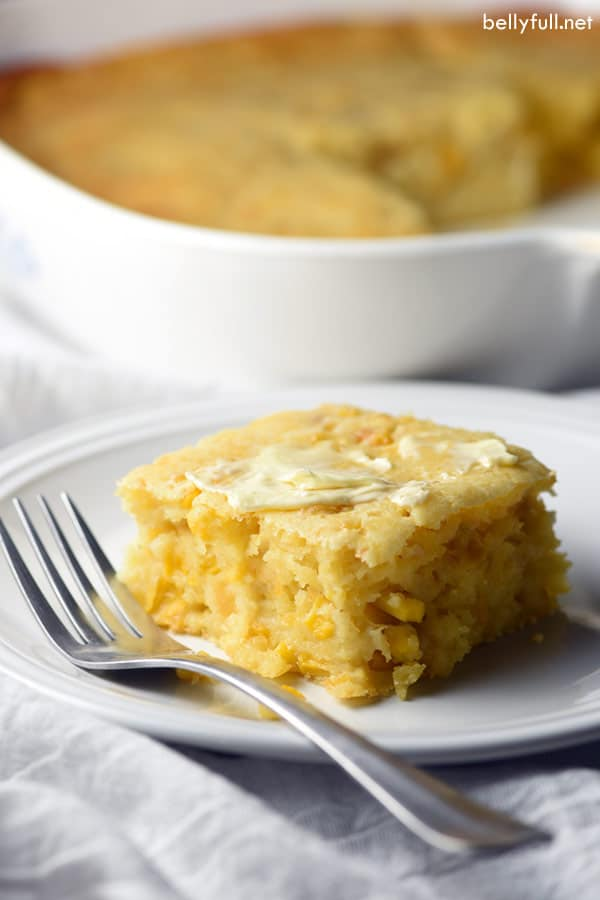 piece of Easy Creamy Cornbread Casserole