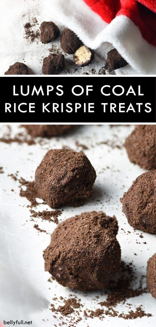 pin Lumps of Coal Rice Krispie Treats