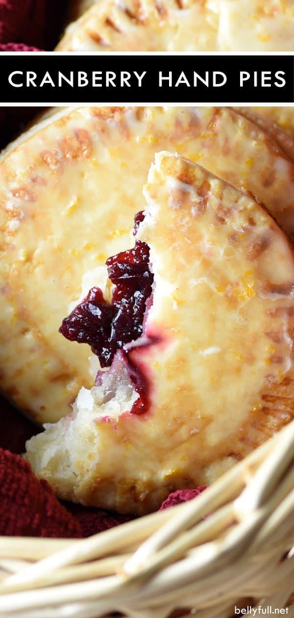 picture of a cranberry hand pie broken in half