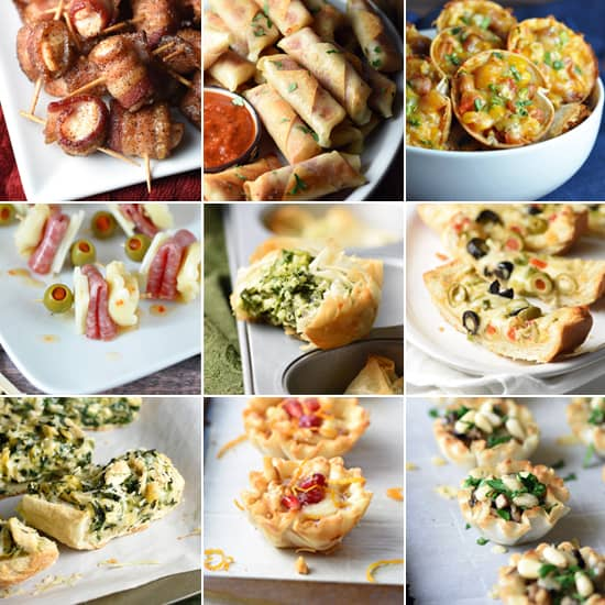 image of nine different appetizers