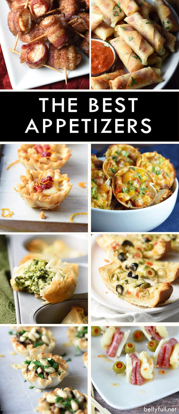 image of eight different appetizers