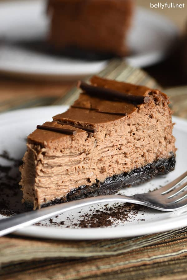 picture of a slice of Chocolate Mocha Cheesecake
