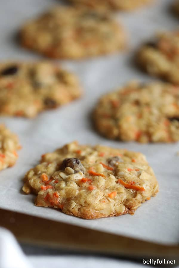 homemade carrot cake cookies