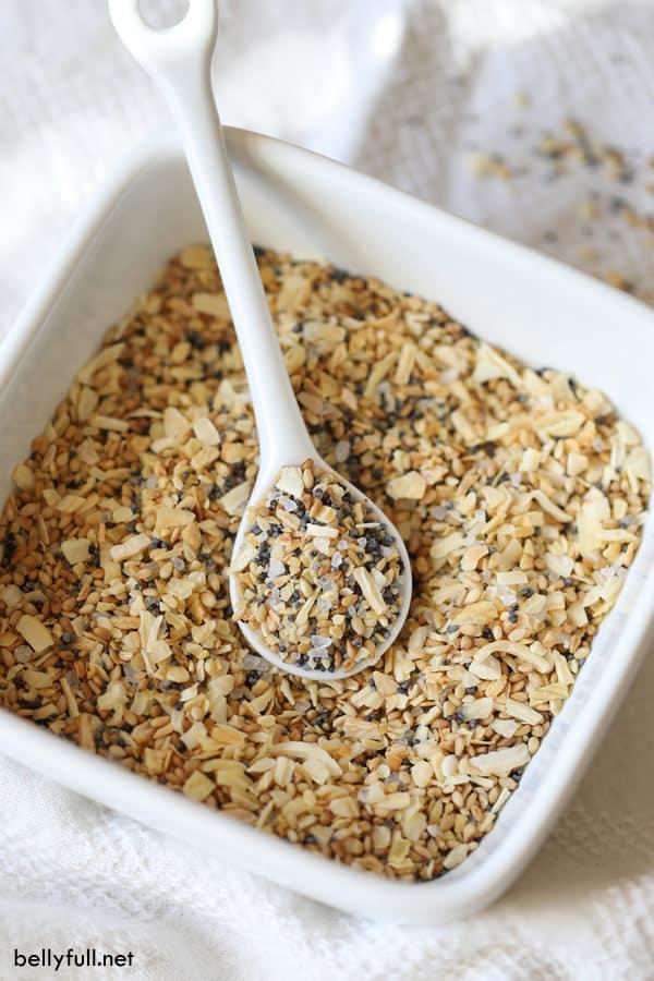 A scoop of homemade Everything Bagel Seasoning Blend