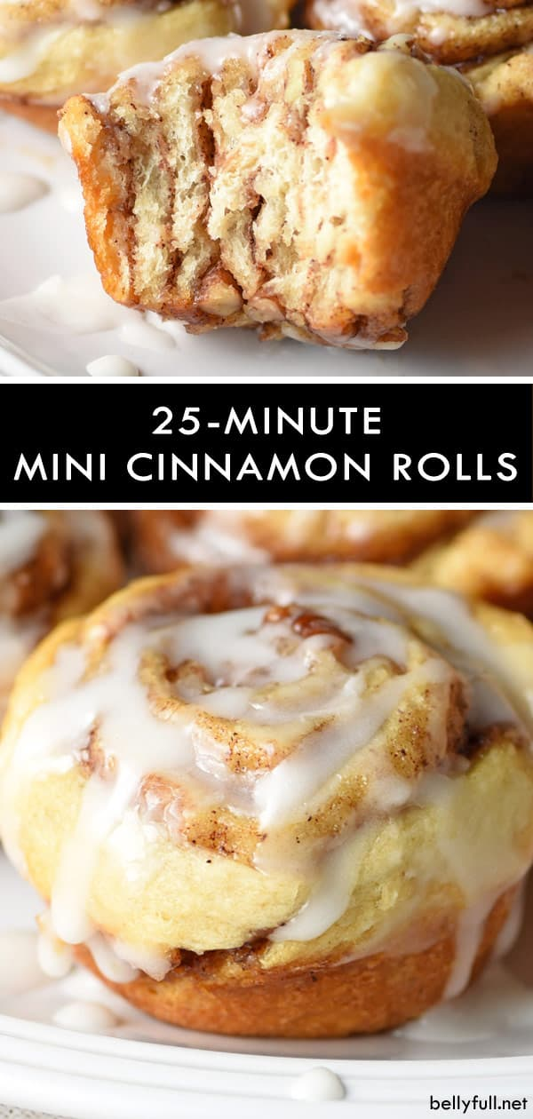 Quick and Easy Mini Cinnamon Rolls