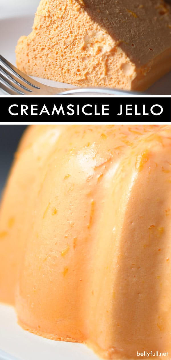 Homemade Orange Creamsicle Jello Mold