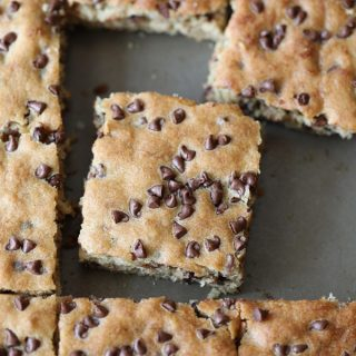 Sheet Pan Chocolate Chip Banana Cake