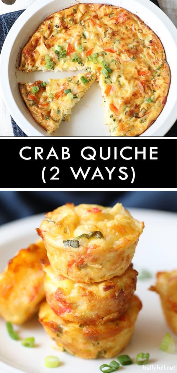Crustless Crab Quiche