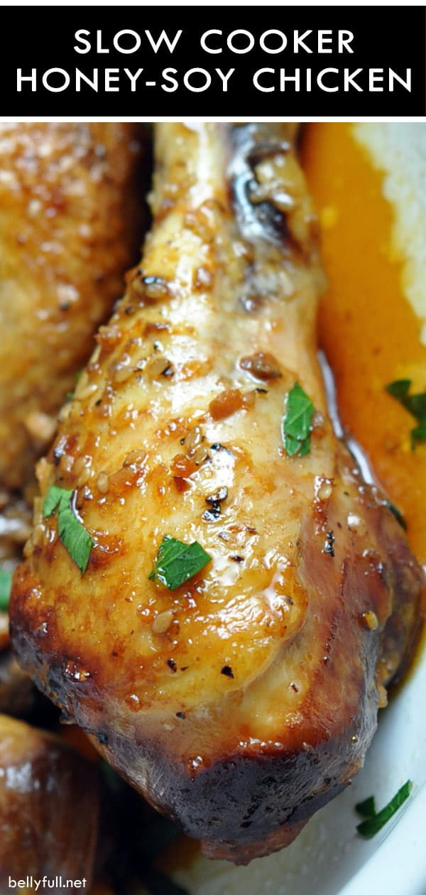 cooked Crock Pot Honey-Soy Chicken Drumsticks