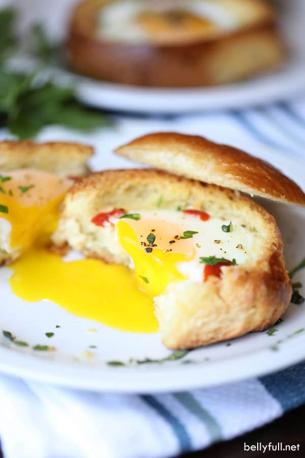 Brioche Egg Cups runny egg
