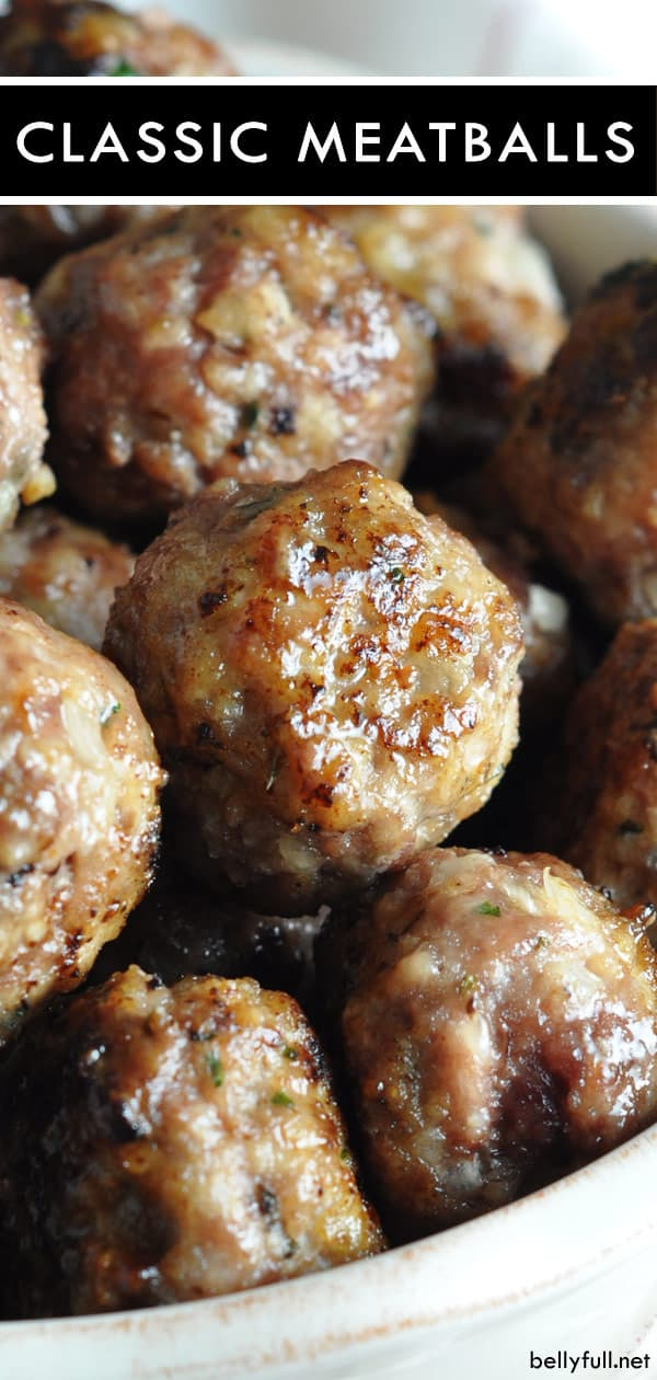 pin for classic Italian beef meatballs