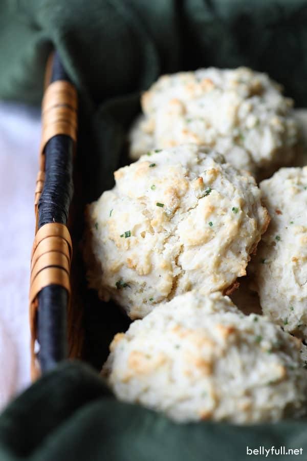 Drop Buttermilk Biscuits in bread basket