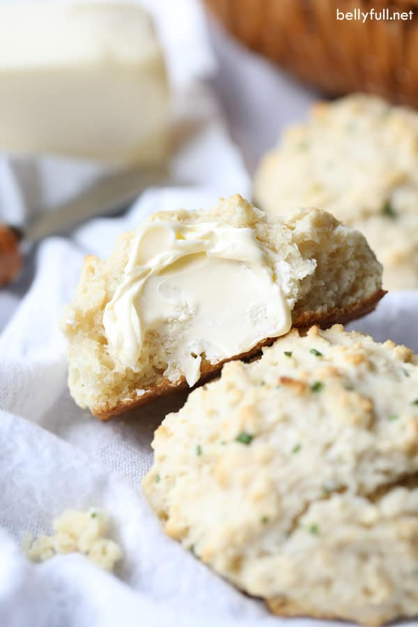Drop Buttermilk Biscuits with butter