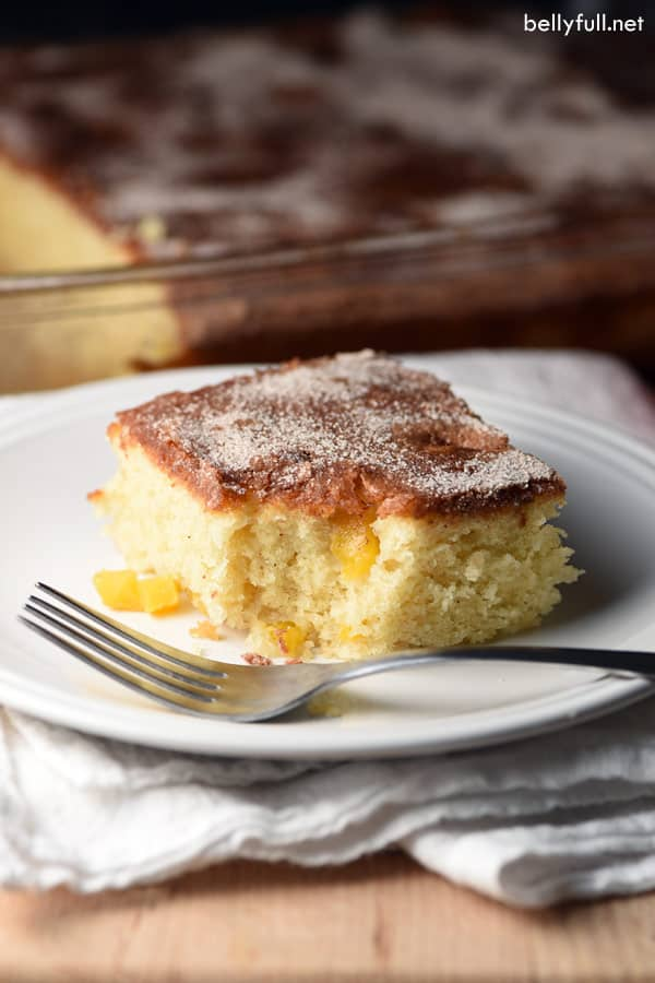 Mango Coffee Cake square slice