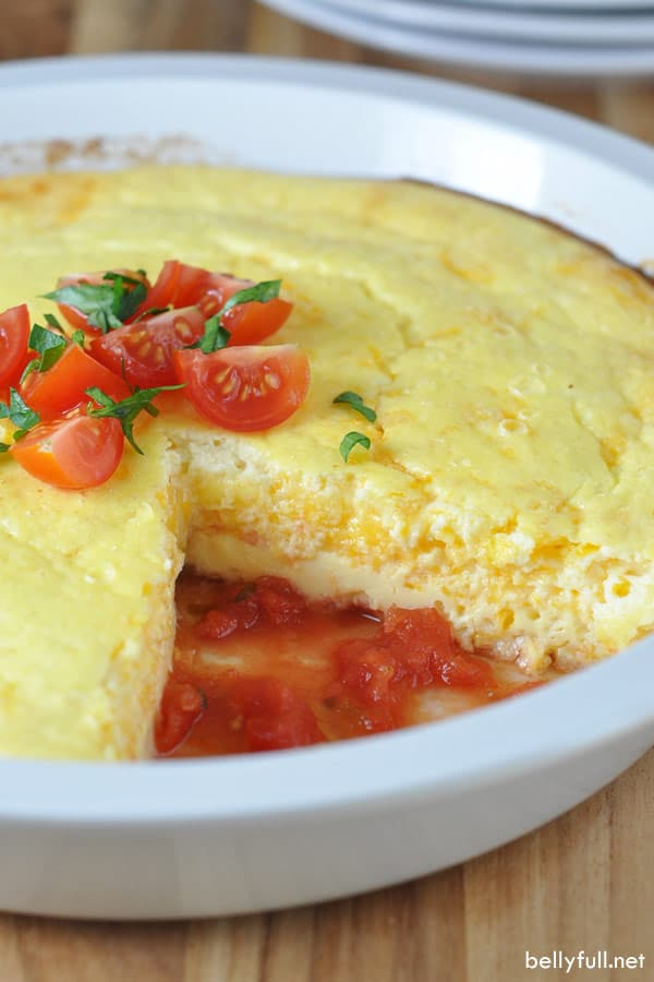 Mexican Omelet Pie in pie plate