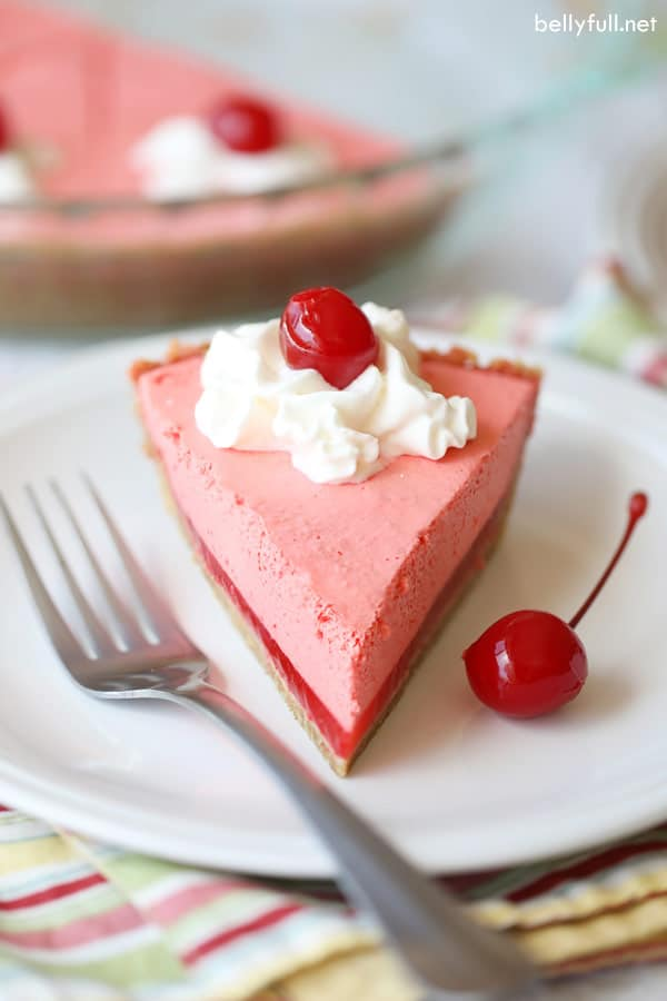 No-Bake Jello Pie slice