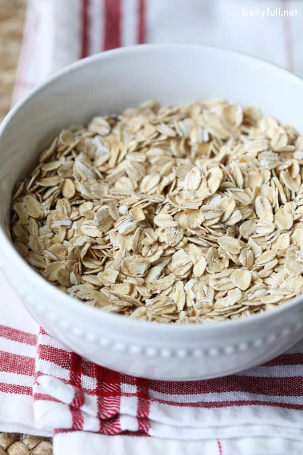 bowl of old fashioned oats