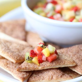 Pie Crust Chips with Fruit Salsa