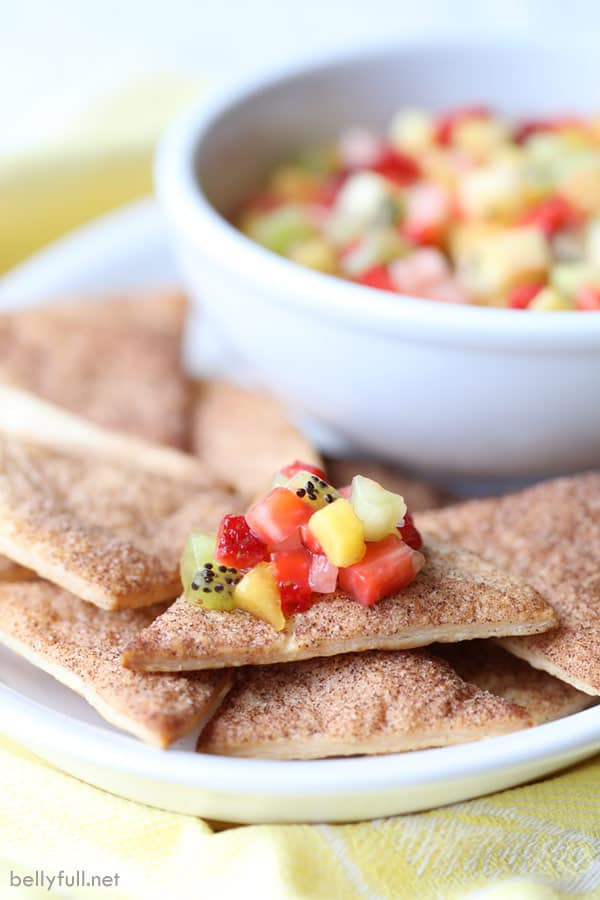 Pie Chips with Fruit Salsa