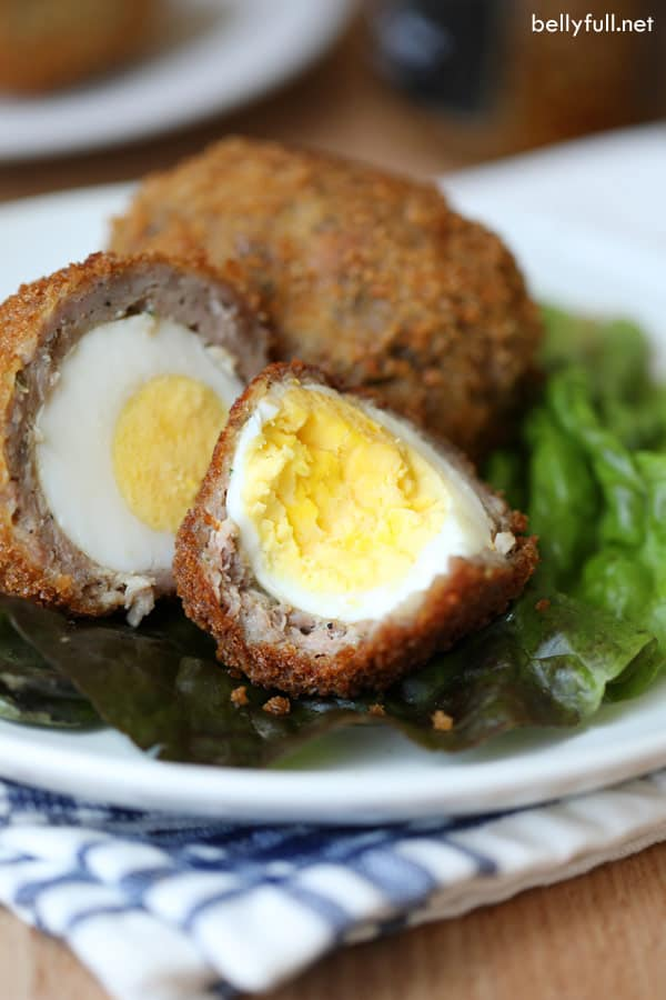 Scotch Eggs cut in half