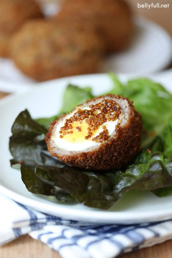 Scotch Eggs with mustard