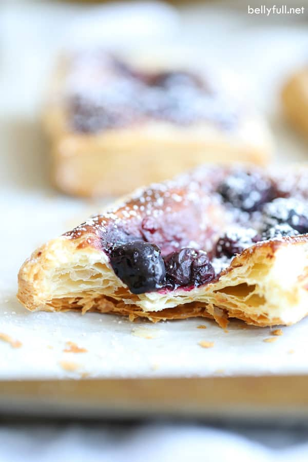 Blueberry Puff Pastry Tart interior