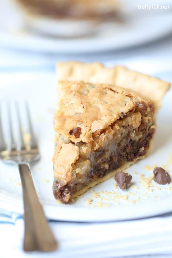 Chocolate Chip Cookie Pie slice